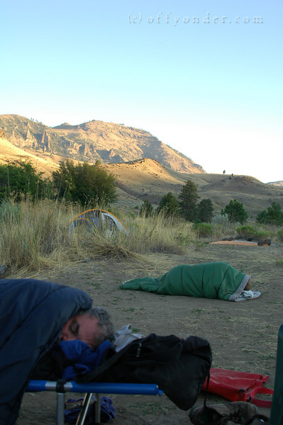 No photos taken after dark, but the next morning, Eddie and Mark were found strewn out in the open air.