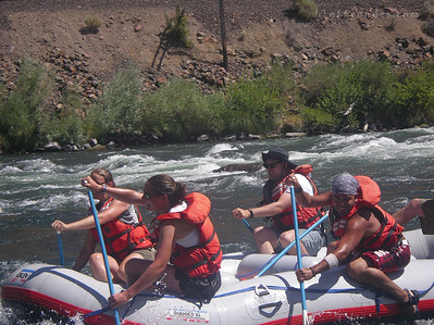 They're a dedicated bunch, and teamwork gets them through with out flipping the raft.
