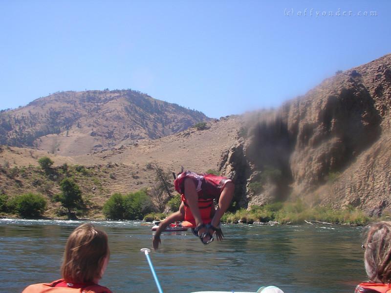 Nice backflip off the boat!