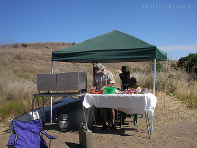 Dave is the Chef for the trip, and gets a great lunch spread set up for all to make sandwiches.