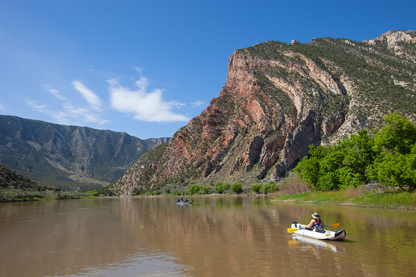 GREEN RIVER, CO - Rafting from the Gates of Lodore to Split Mountain in Utah