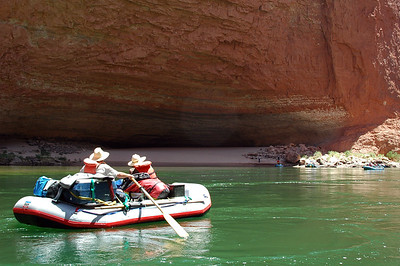 GRAND CANYON, AZ - Along the Colorado River, we land at Redwall Cavern for lunch.
