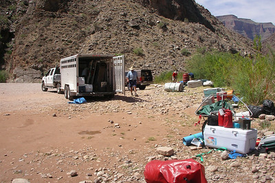 GRAND CANYON, AZ - All the gear packs up into the trailer and we're off. We've all submitted applications for another permit to do the trip again. Hopefully it won't take another 14 years like it did for this permit.
