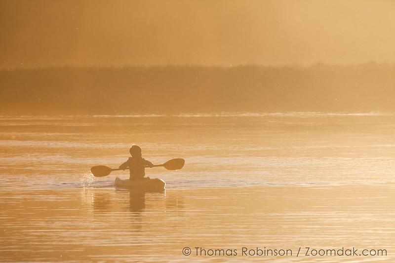 Boy Kayaking on the Deschutes