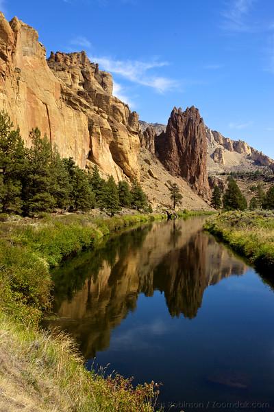 Smith Rock Palisade Reflected