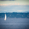 Lone Sail, Elliot Bay, WA