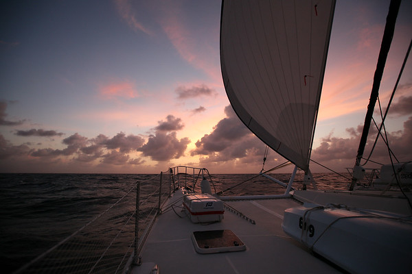 OFFSHORE, BAHAMAS - Ten days of sailing from Nassau, Bahamas to Panama City, Panama through the Panama Canal. Over 1700 miles covered, seas were fair, sunny most of the way. Crew: Shawn Griffith (Captain), Amy Griffith Redfern, Sasha Gates, Cameron Martindell