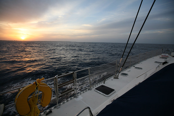 OFFSHORE, CUBA - Ten days of sailing from Nassau, Bahamas to Panama City, Panama through the Panama Canal. Over 1700 miles covered, seas were fair, sunny most of the way. Crew: Shawn Griffith (Captain), Amy Griffith Redfern, Sasha Gates, Cameron Martindell