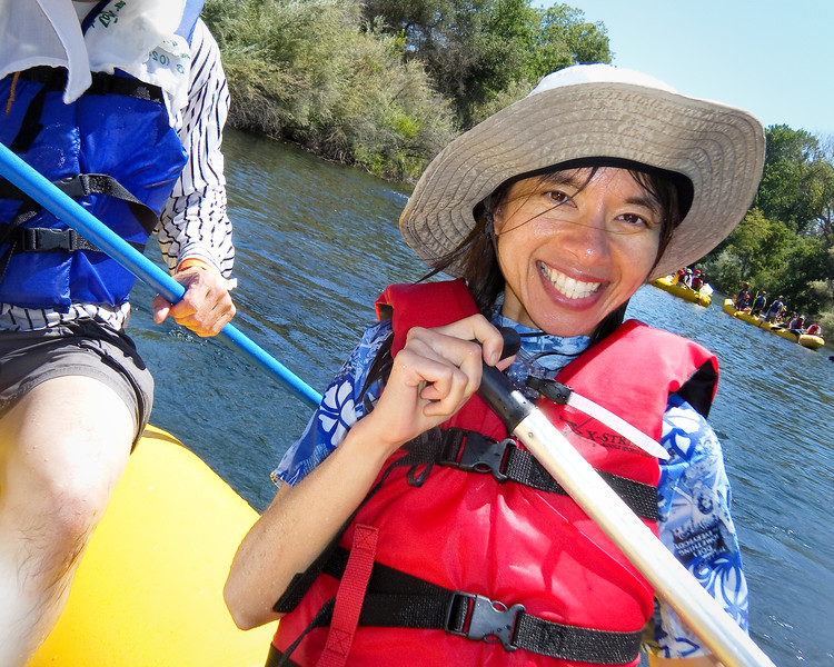 Shalimar having fun on the river.