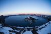 Sunset at Crater Lake, Oregon