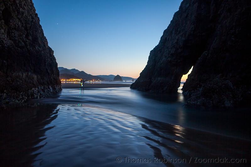 Twilight in Cannon Beach