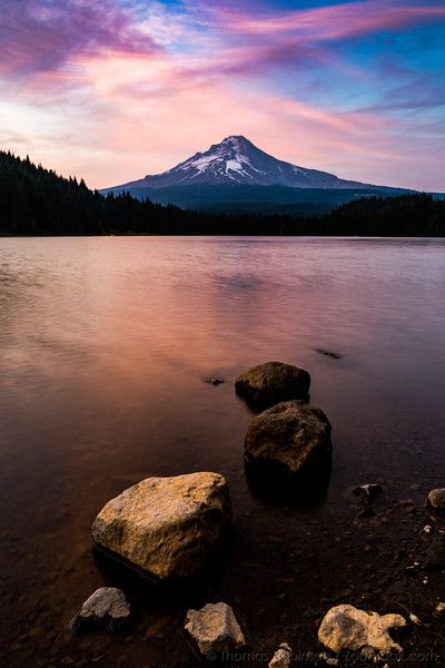 Trillium Lake Sunset