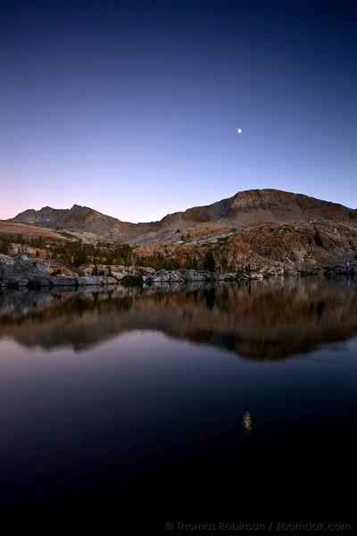 Moon Rise at Lower Ottoway Lake, Yosemite NP