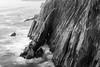 Neahkahnie Cliffs in Black and White