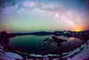 Milky Way over Crater Lake, Oregon
