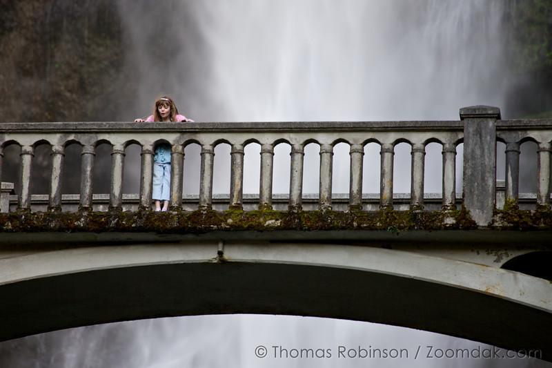 Multnomah Falls Reaction, Columbia River Gorge, Oregon