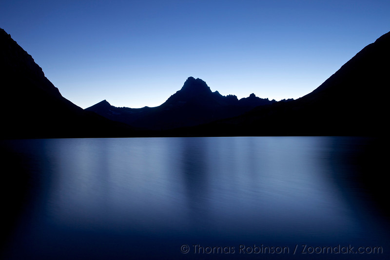 Swiftcurrent Lake - Beautiful Evening Blues