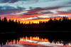 Central Oregon Sunset Reflection