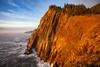Neahkahnie Cliffs in Golden Glow