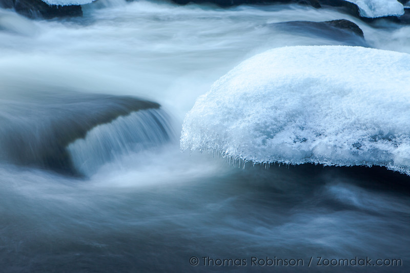 Ice on the Deschutes River