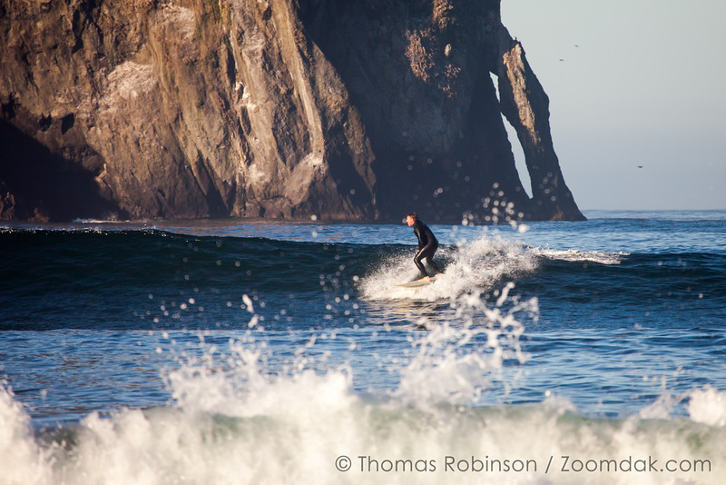 Surfing in Pacific City