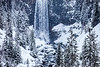 Snow at Tumalo Falls