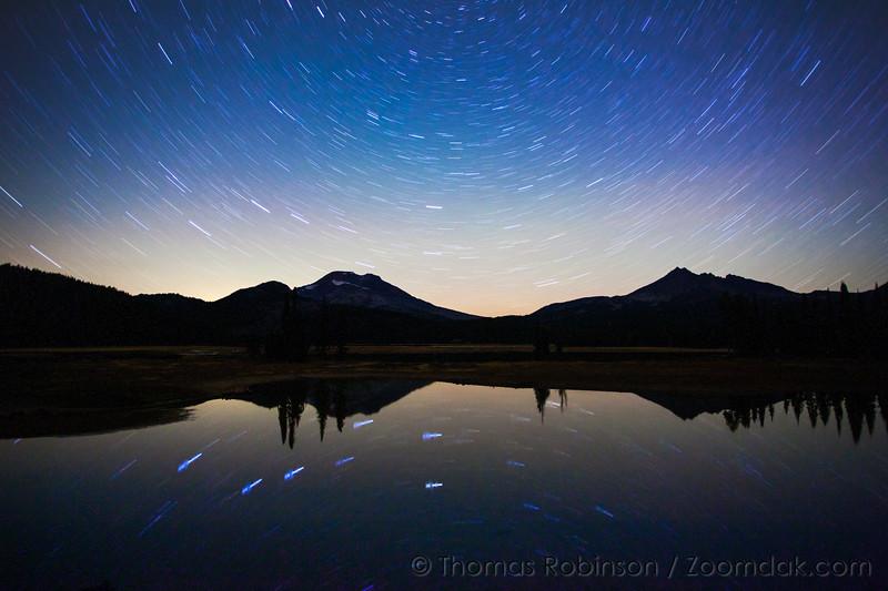 Sparks Lake Star Trails
