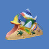 "Tropical Fish Slide, 10'10""L x 7'5""H #9160"