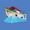 "Tug Boat Slide, 12'L x 8'6""H #9184"