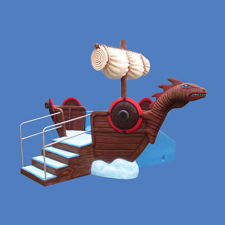 Viking Ship Slide, 12'L x 7'H #9158