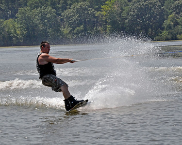 Wakeboarding on Mattawoman Creek
