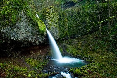 Pony Tail Falls; March 22, 2013; Columbia River Gorge National Scenic Area, Multnomah County, Oregon
