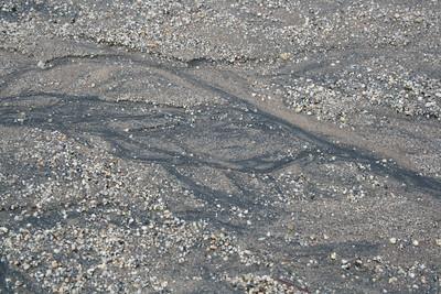 Gullies in dirt road after rain, 5 Jan 2008