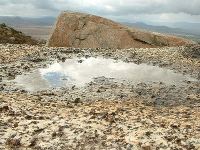 tiny rock puddle. Lakeview Mountains, 01 Nov 2003