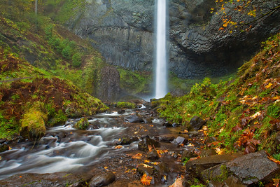 Latourell Falls; November 2, 2012; Columbia River Gorge National Scenic Area, Multnomah County, Oregon