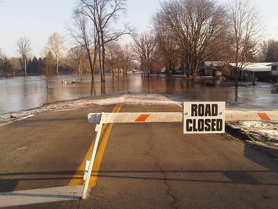 Findlay Ohio Flooding - Road Closed