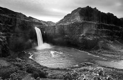 Palouse Falls Monochrome