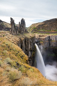 Palouse Falls with Castle Above