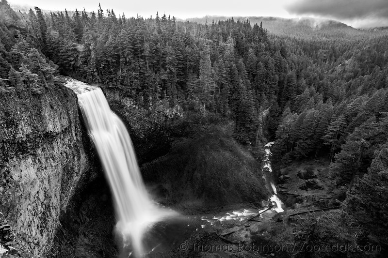 Monochrome Salt Creek Falls