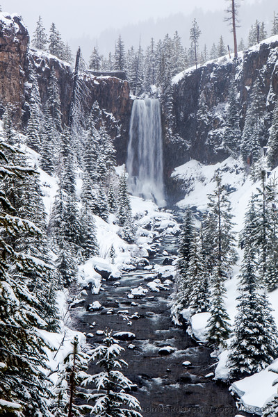 Tumalo Falls in Winter