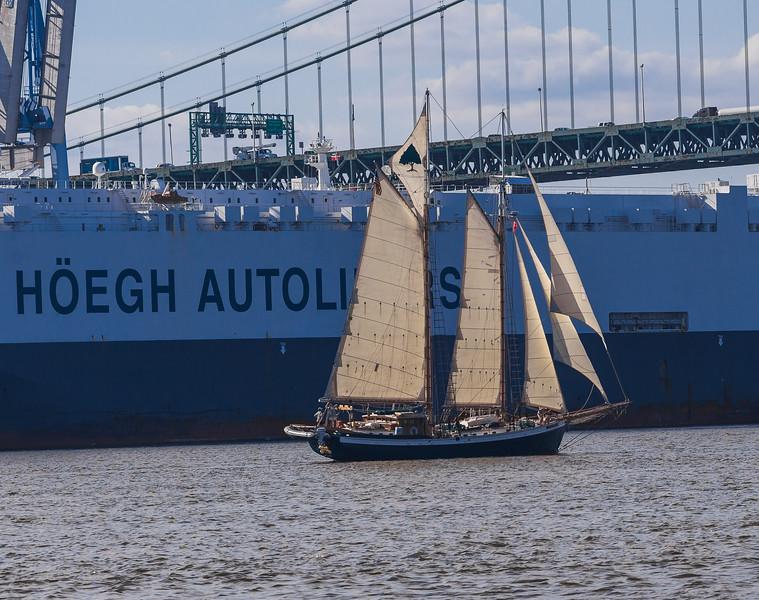 Delaware River between Philadelphia, PA and Gloucester City, NJ. June 2015