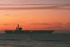 USS Ronald Reagan anchored off Santa Barbara
