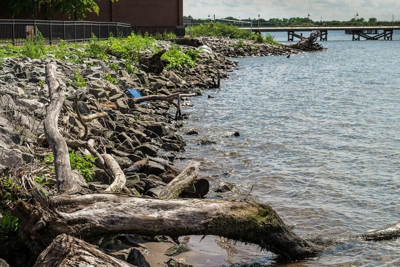 Gloucester City, NJ. Delaware River. August 2015