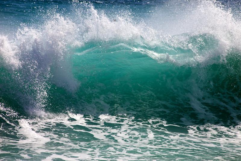 A big wave crests along the the Baja coast near San Jose, Mexico.