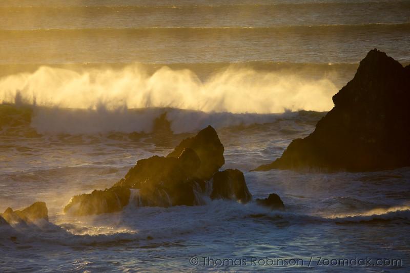 Backlit Waves, Oregon Coast