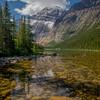Mount Edith Cavell above the water