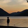 Crescent Lake Sunset - Crescent Lake, WA