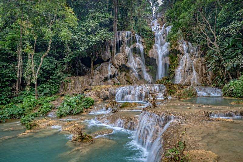 Beautiful large falls at Kuang Si W