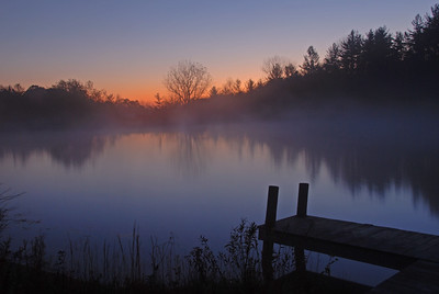 Sunrise at Thomas's Pond