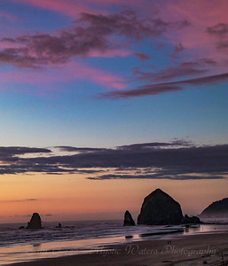Haystack Rock - Sunset into Dusk